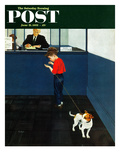 """Dog License"" Saturday Evening Post Cover, June 21, 1952 Giclee Print by George Hughes"