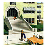 """First day of school"", September 6, 1958 Gicléetryck av Thornton Utz"