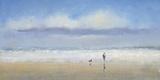 Promenade à la plage Affiche par Michael J. Sanders