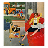 """Morning Coffee Break"", September 12, 1959 Giclee Print by Amos Sewell"