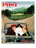 """Fork in the Road"" Saturday Evening Post Cover, July 7, 1956 Giclee Print by George Hughes"