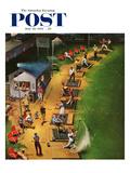 """Golf Driving Range"" Saturday Evening Post Cover, July 26, 1952 ジクレープリント : ジョン・フォールター"