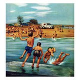 """""""Ice Cream Truck at the Beach"""", July 31, 1954 Lámina giclée por Stevan Dohanos"""