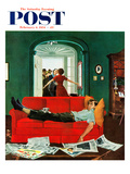 """Sunday Visitors"" Saturday Evening Post Cover, February 6, 1954 Giclee Print by George Hughes"