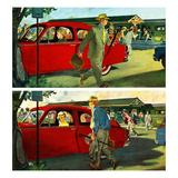 """Coming and Going to Work"", June 28, 1952 Gicléetryck av Thornton Utz"