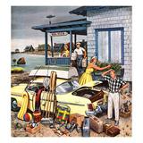 """Packing the Car"", September 8, 1956 Giclee Print by Stevan Dohanos"