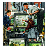 """""""Fish Aquarium"""", October 30, 1954 Giclée-tryk af Stevan Dohanos"""