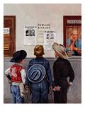 """""""Wanted Posters"""", February 21, 1953 Lámina giclée por Stevan Dohanos"""