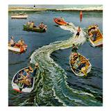 """Making a Wake"", July 26, 1958 Giclée-vedos tekijänä Ben Kimberly Prins"