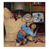 """Good Guys Wear White Hats"", November 9, 1957 Giclée-Druck von John Falter"