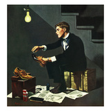 """Brown Shoes to Black"", November 4, 1950 Giclee Print by George Hughes"
