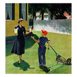 """Lemonade for the Lawnboy"", May 14, 1955 Giclee Print by George Hughes"