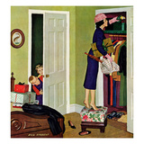 """""""Hiding the Presents"""", December 7, 1957 Giclee Print by Richard Sargent"""