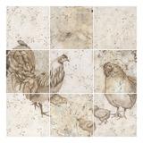 Chicken Squares Prints by Carol Kemery