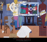 Profile/Part II, The Thirties: Artist with Painting and Model, c.1981 Posters van Romare Bearden