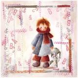 Enfant Écharpe Rouge Art by Joelle Wolff