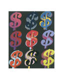 $9, c.1982 (on black) Stampe di Andy Warhol
