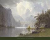 In the Mountains, c.1867 Kunst af Albert Bierstadt