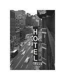Chelsea Black and White Giclée-tryk af Christopher Bliss