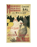 Moulin Rouge, La Goulue Poster by Henri de Toulouse-Lautrec