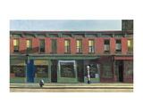 Early Sunday Morning, c.1930 Plakater av Edward Hopper