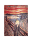 Skrik, ca. 1893 Plakater av Edvard Munch