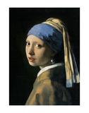 Pige med perleørering Kunst af Johannes Vermeer