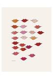 Stamped Lips, c. 1959 Pôsters por Andy Warhol