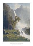 Bridal Veil Falls, Yosemite,  ca 1871-73 Affiches par Albert Bierstadt