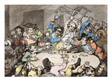 A Kick Up at a Hazard Table Giclee Print by Thomas Rowlandson