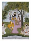 Krishna and Radha Making Music Lámina giclée