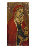 St Mary Magdalene - a Fragment from an Altarpiece Giclée-tryk af Taddeo di Bartolo