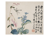 A Page (Dragonfly) from Flowers and Bird, Vegetables and Fruits Giclee Print by Li Shan