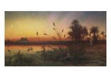 The Pyramids from the Island of Roda 'she Took for Him an Ark of Bulrushes, and Put the Child… Giclee Print by Frank Dillon