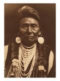 Chief Joseph-Nez Perce, 1903 Premium Giclée-tryk af Edward S. Curtis