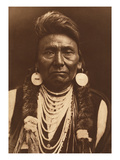 Chief Joseph-Nez Perce, 1903 Gicléetryck av Edward S. Curtis