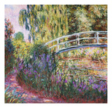 The Japanese Bridge, Pond with Water Lillies; Le Pont Japonais Bassin Aux Nympheas Impressão giclée premium por Claude Monet
