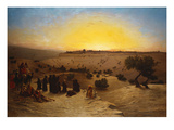 Pilgrims Worshipping Outside Jerusalem Stampa giclée di Charles Theodore Frere