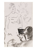 Parisian Cafe Singer; Chanteuse De Cafe-Concert Giclee Print by Edouard Manet
