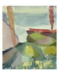 The Seaside in the Rain; See Ufer Bei Regen Giclee-trykk av Paul Klee