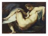 Leda ja Joutsen|Leda and the Swan Giclée-vedos tekijänä Peter Paul Rubens