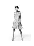 Vogue - March 1967 - Twiggy Premium fotoprint van Bert Stern
