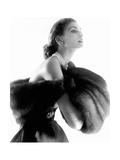 Vogue - August 1954 - Suzy Parker Premium fototryk af Horst P. Horst