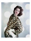 Vogue - November 1958 Premium fototryk af Karen Radkai