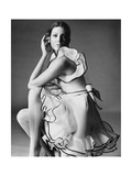 Vogue - June 1968 - Gayle Hunnicutt in Oscar de la Renta Premium fotoprint van Bert Stern