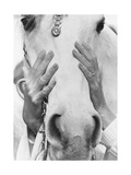 Vogue - September 1968 - Conchita Cintron & Horse Photographic Print by Henry Clarke