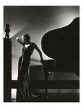 Vogue - November 1935 - Piano Silhouette Premium Photographic Print by Edward Steichen
