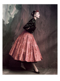 Vogue - October 1953 Premium fototryk af John Rawlings