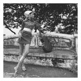 Vogue - January 1968 Premium Photographic Print by Franco Rubartelli