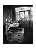 House & Garden - July 1947 Premium fototryk af André Kertész